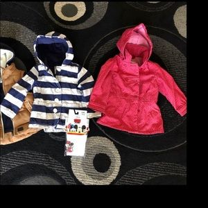 Bundle of 2 girls jackets and tights